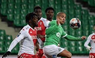 Pour leur dernier match en Ligue 1, Wahbi Khazri et les Stéphanois ont pris une énorme claque contre l'AS Monaco (0-4), le 19 mars.