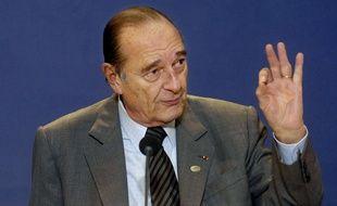 Jacques Chirac, le 9 mars 2007.