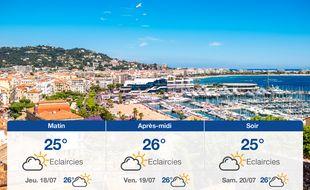 Météo Cannes: Prévisions du mercredi 17 juillet 2019