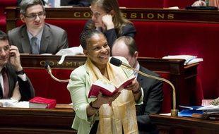 Christiane Taubira à l'Assemblée nationale lors des débats sur la mariage pour tous le 6 février 2013.