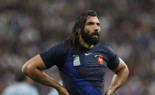 Le rugbyman du XV de France, Sébastien Chabal, lors d'un match contre l'Argentine, le 7 septembre 2007 à Paris.