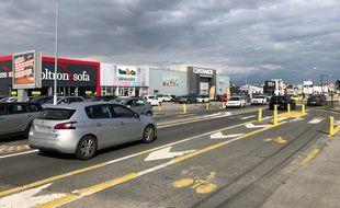 Une portion de la route de Vannes, à Orvault.