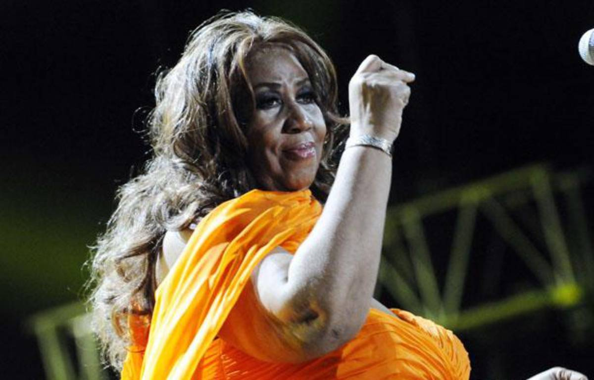 La chanteuse Aretha Franklin, 70 ans, donne un concert à la Nouvelle-Orléans, le 8 juillet 2012. – Cheryl Gerber/AP/SIPA