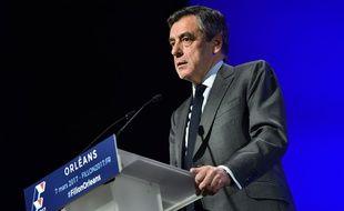 François Fillon en meeting à Orléans le 7 mars 2017.