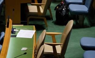 Une chaise vide, en l'occurrence à l'ONU (photo d'illustration)