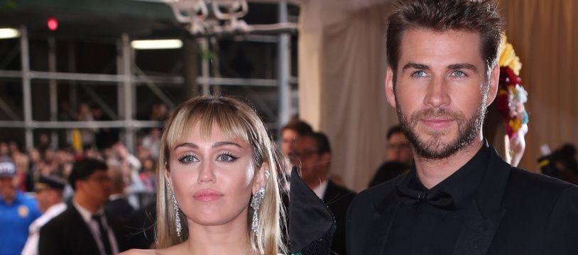 La chanteuse Miley Cyrus et l'acteur Liam Hemsworth