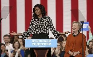 Michelle Obama fait campagne pour Hillary Clinton en Caroline du Nord, le 27 octobre 2016.