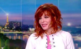 Mylène Farmer au 20 Heures de TF1, le 11 mars 2018.