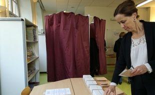 La porte-parole d'Alain Juppé, Fabienne Keller a voté ce dimanche à Strasbourg vers 11h30.