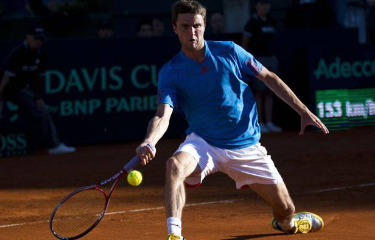 Gilles Simon, le 5 avril 2012 en Argentine. – R.Caivano/SIPA