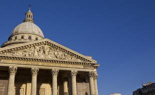 Paris (5e), le 02 septembre 2013. Illustration de la façade du Panthéon.