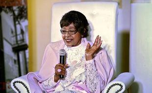 Winnie Mandela, ex-femme de Nelson Mandela en août 2013 à Johannesburg.
