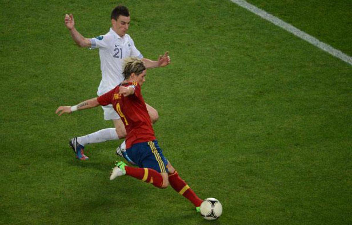 L'attaquant espagnol Fernando Torres, le 23 juin 2012, à Donetsk. – AFP PHOTO / JEFF PACHOUD