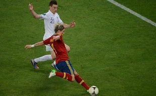 L'attaquant espagnol Fernando Torres, le 23 juin 2012, à Donetsk.