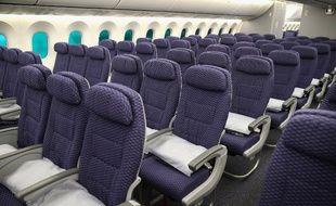 Une photo de cabine de Boeing 787 (image d'illustration).
