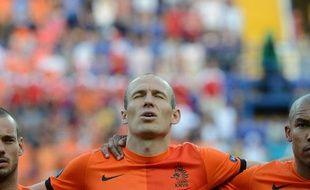 Les Néerlandais Sneijder, Robben et De Jong, le 9 juin 2012, à Kharkov.