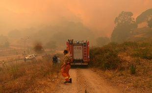 Des pompiers luttent contre des incendies en Sicile, le 10 juillet 2017.