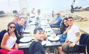 Marco verratti, Javier Pastore et Marquinhos à Ibiza.