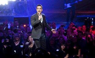 Robbie Williams en concert en Allemagne en mars 2010