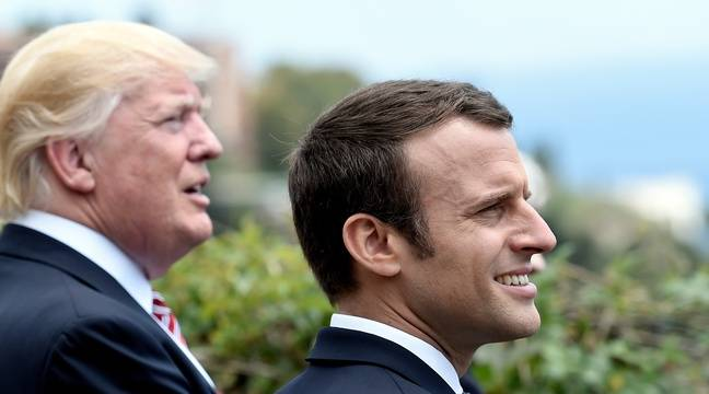 Donald Trump et Emmanuel Macron  au G7 en Italie le 26 mai 2017.  – STEPHANESAKUTIN / POOL / AFP