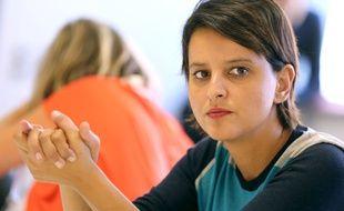 Najat Vallaud Belkacem, ministre de l'Education lors d'une visite d'un lycée à Toulouse le 6 septembre. Elle s'est opposée à la proposition de Thomas Piketty d'imposer au privé des quotas d'élèves défavorisés.