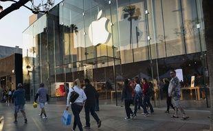 Un Apple Store à Los Angeles (illustration).