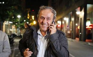Michel Platini, ici lors de la sortie de sa garde à vue à Nanterre le 19 juin 2019.