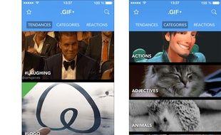 Captures d'écran de l'application Gif.