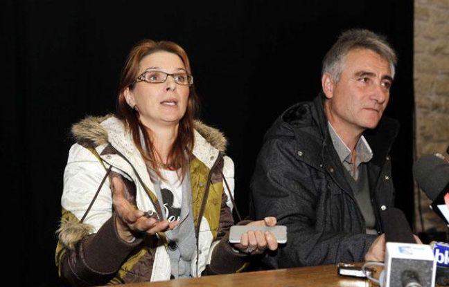 Violette and Jesus Rodriguez, les parents de Chloé, le 17 novembre 2012
