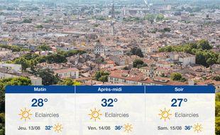 Météo Nîmes: Prévisions du mercredi 12 août 2020