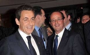 Nicolas Sarkozy et François Hollande, les deux candidats à la présidentielle 2012 favoris des sondages