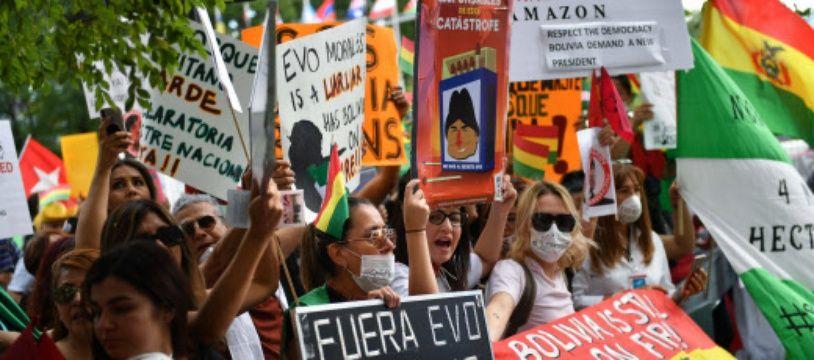 Lors d'une manifestation de l'opposition, en septembre, au siège de l'ONU à New York.