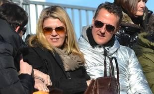 Michael Schumacher et sa femme Corinna, en 2013.