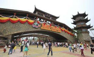 """Le parc Wanda, doté des """"plus hautes montagnes russes"""" de Chine, espère attirer 10 millions de visiteurs par an"""