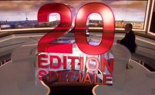 L'édition spéciale du journal de 20 heures sur France 2 le 15 novembre 2015