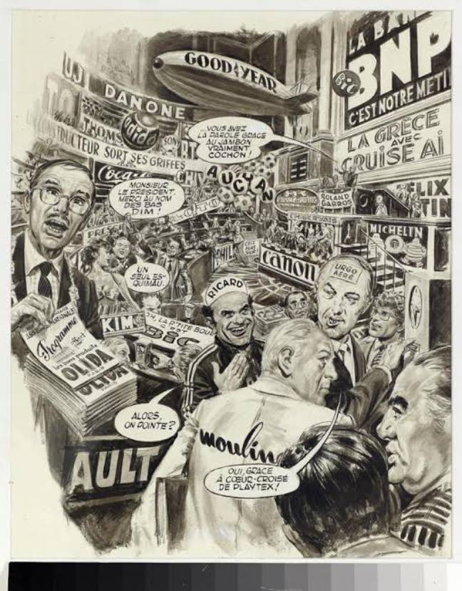 «Si on privatisait tout ça?», illustration parue dans «L'Evenement du jeudi».