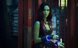 Zoé Zaldana dans le film Les Gardiens de la Galaxie