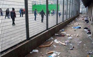 Cour de promenade de la maison d'arrêt des hommes 1, prison des Baumettes, Marseille.