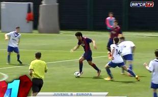 Capture d'écran du but de Carles Alena