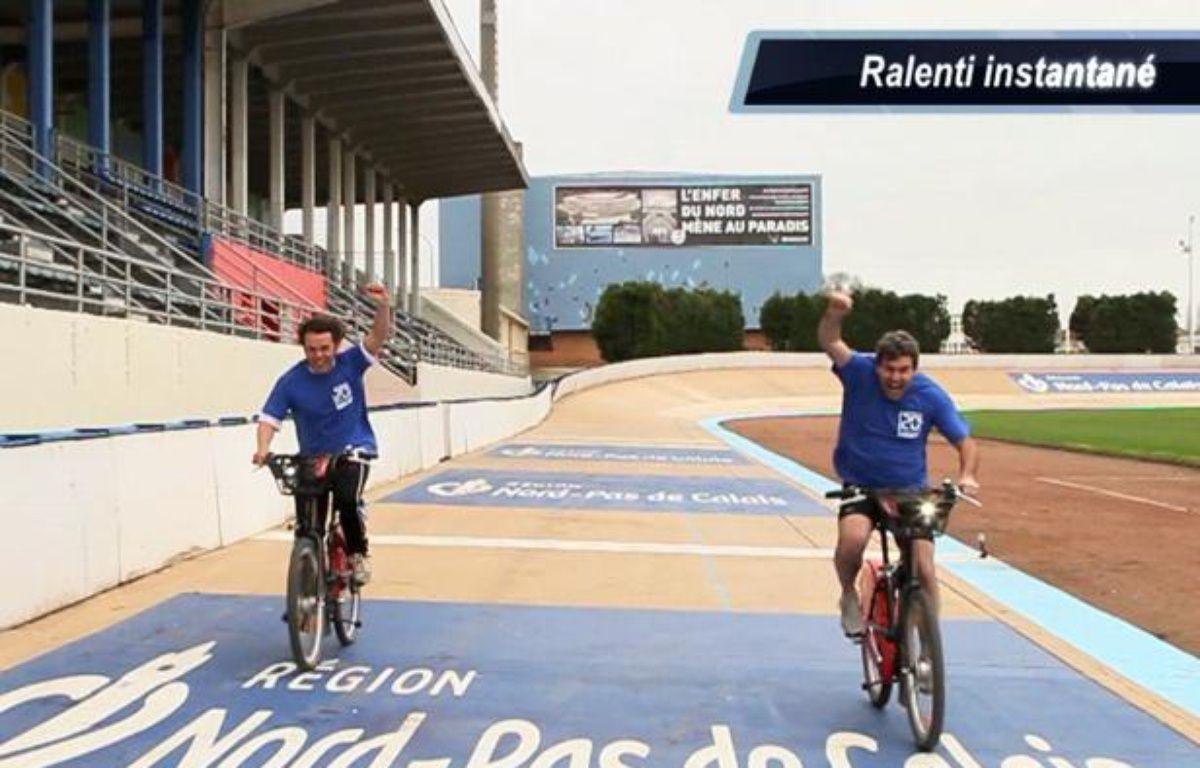 Le Friday sport teste sa giclette sur Paris-Roubaix. – Capture d'écran/20minutes.fr