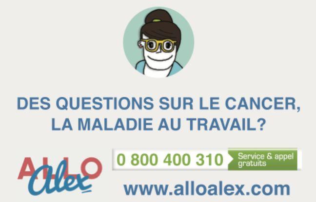 Illustration de Allo Alex, une hotline gratuite pour avoir des informations sur cancer et travail.