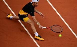 Diego Schwartzman, le 5 octobre 2020 à Roland-Garros.