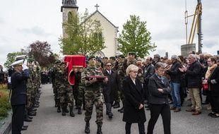 Samedi matin, lors des obsèques d'Alain Bertoncello.