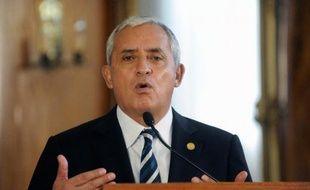 Le président Otto Perez Molina le 28 mai lors d'une conférence de presse à Guatemala City