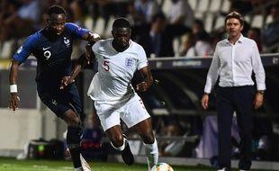 Moussa Dembélé lors de France-Angleterre, à l'Euro espoirs 2019.