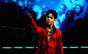 Le chanteur Prince sur scène au Madison Square Garden