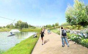 Le projet du parc Bruyère à Baillargues.