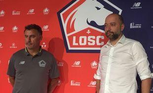 Christophe Galtier et Gérard Lopez ont donné une conférence de presse commune