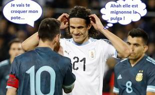 Messi et Cavani, amis pour la vie.