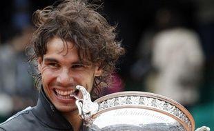 L'Espagnol Rafael Nadal, vainqueur de l'édition 2012 de Roland-Garros, le 11juin 2012, à Paris.